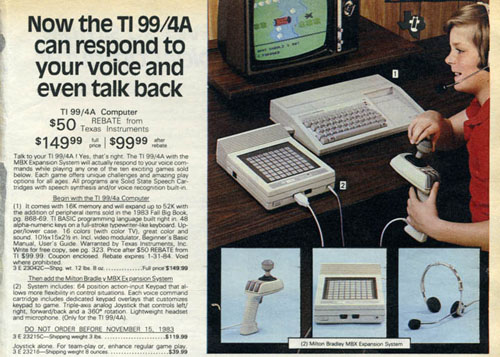 Personal Computers In the 1980s texas instruments ti 99/4a