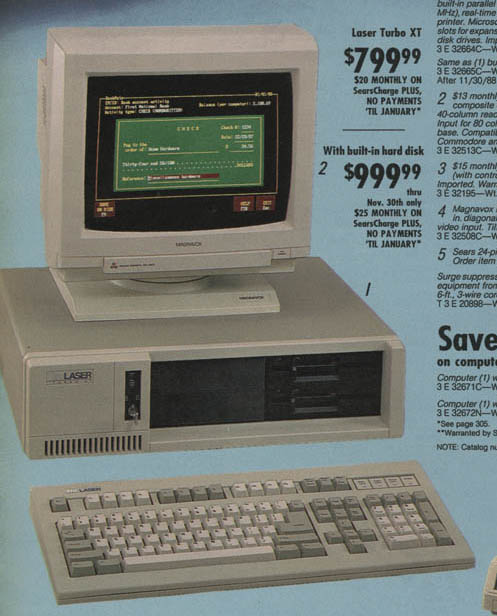 Personal Computers In the 1980s sears laser