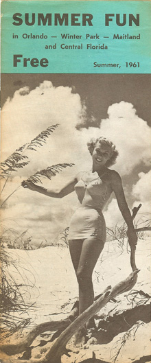 Orlando in the 1960s beautiful retro swimsuit model