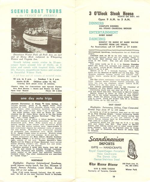 Orlando in the 1960s scenic boat tour