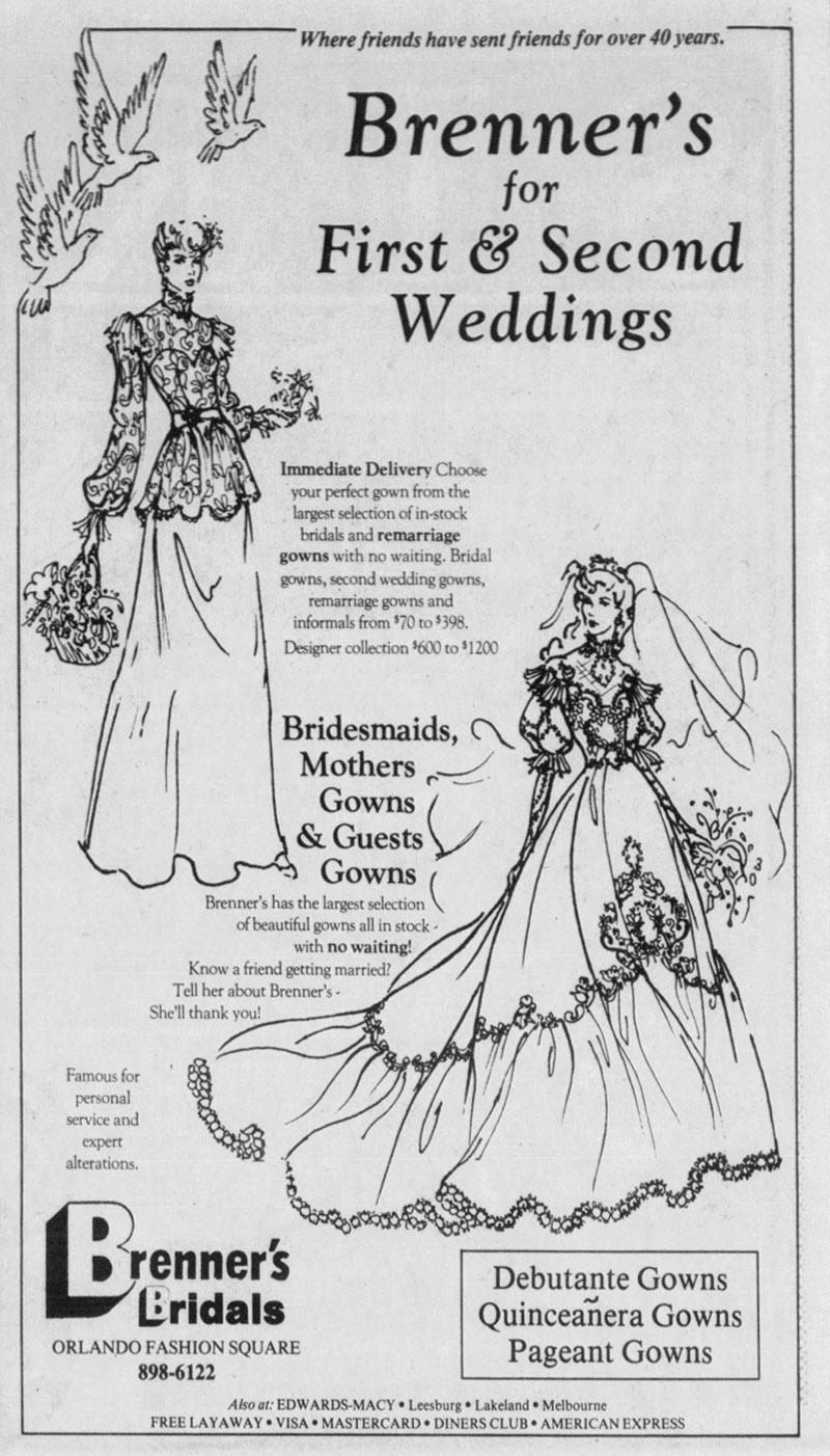 orlando fashion square mall brenner's bridal