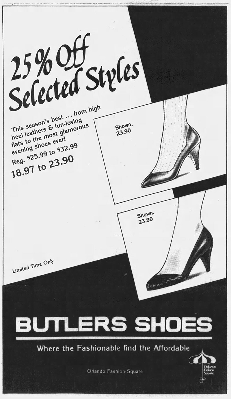 orlando fashion square mall butler's shoes