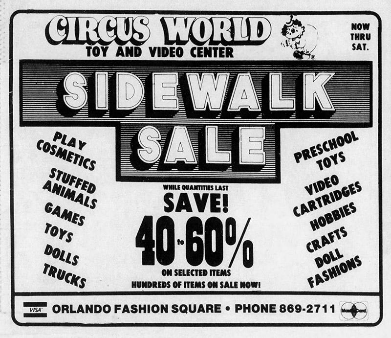 orlando fashion square mall circus world toys
