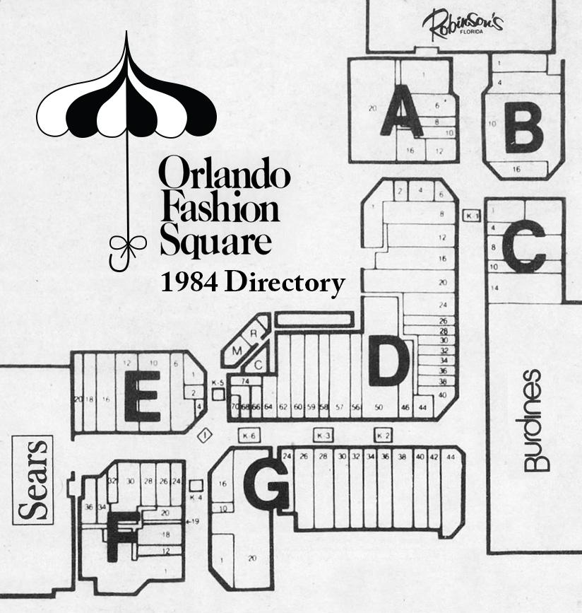 Orlando Fashion Square Mall 1980s