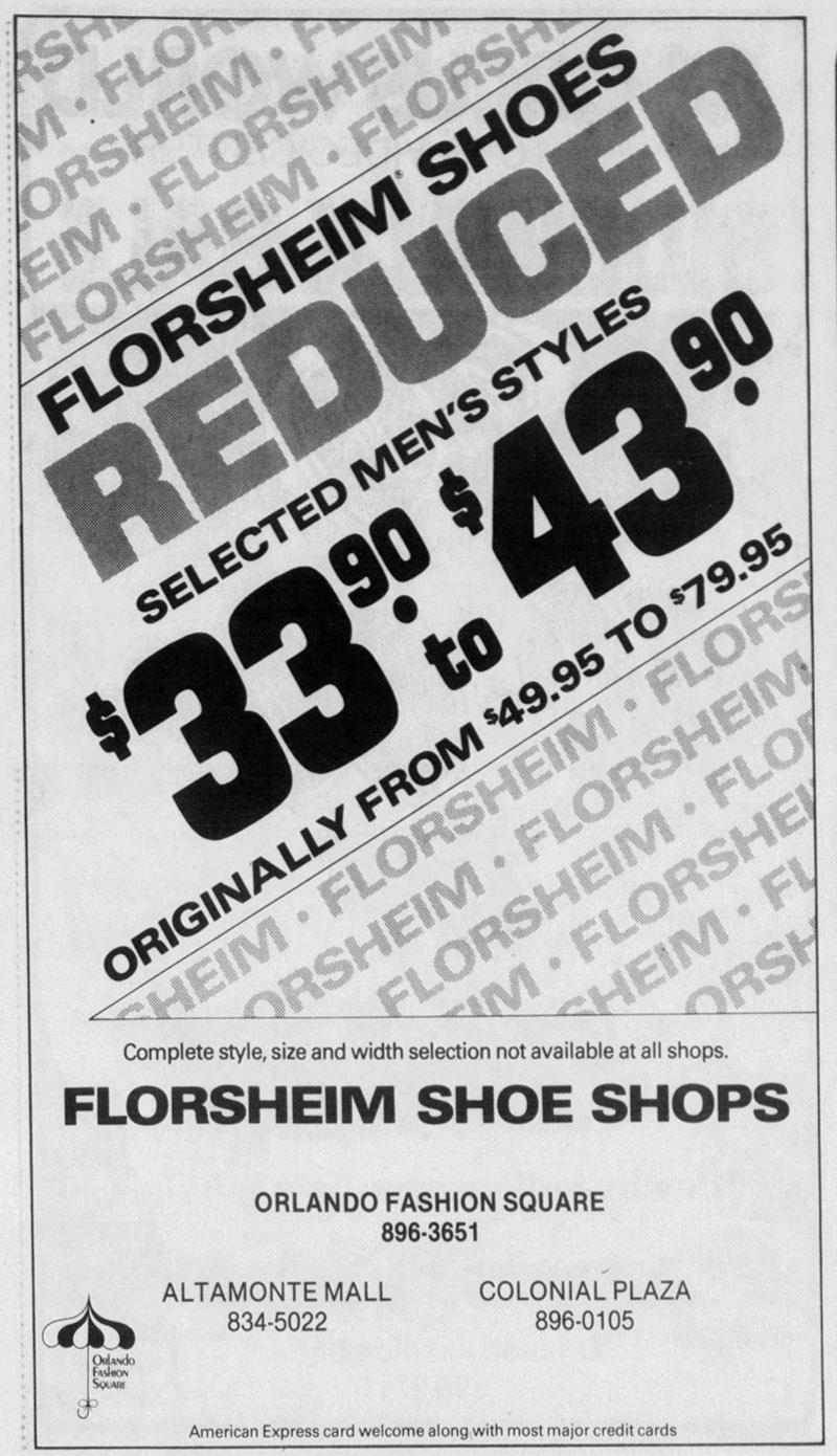 orlando fashion square mall florsheim shoes