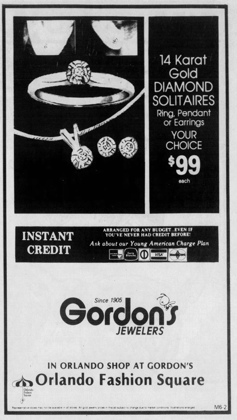 orlando fashion square mall gordon's jewelers