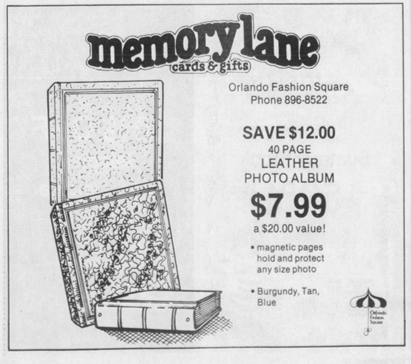 orlando fashion square mall memory lane