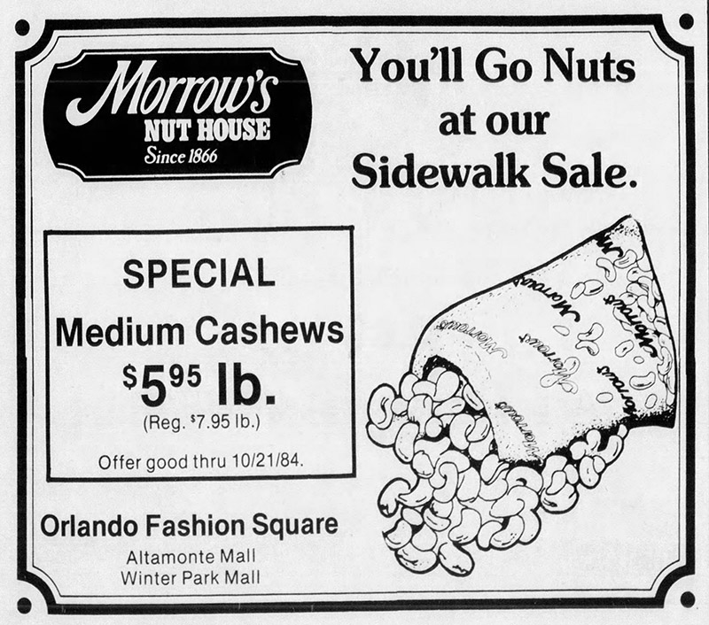 orlando fashion square mall morrow's nut house