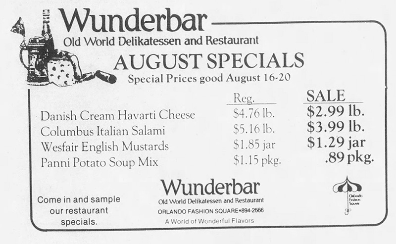 orlando Wunderbar Old World Delikatessen