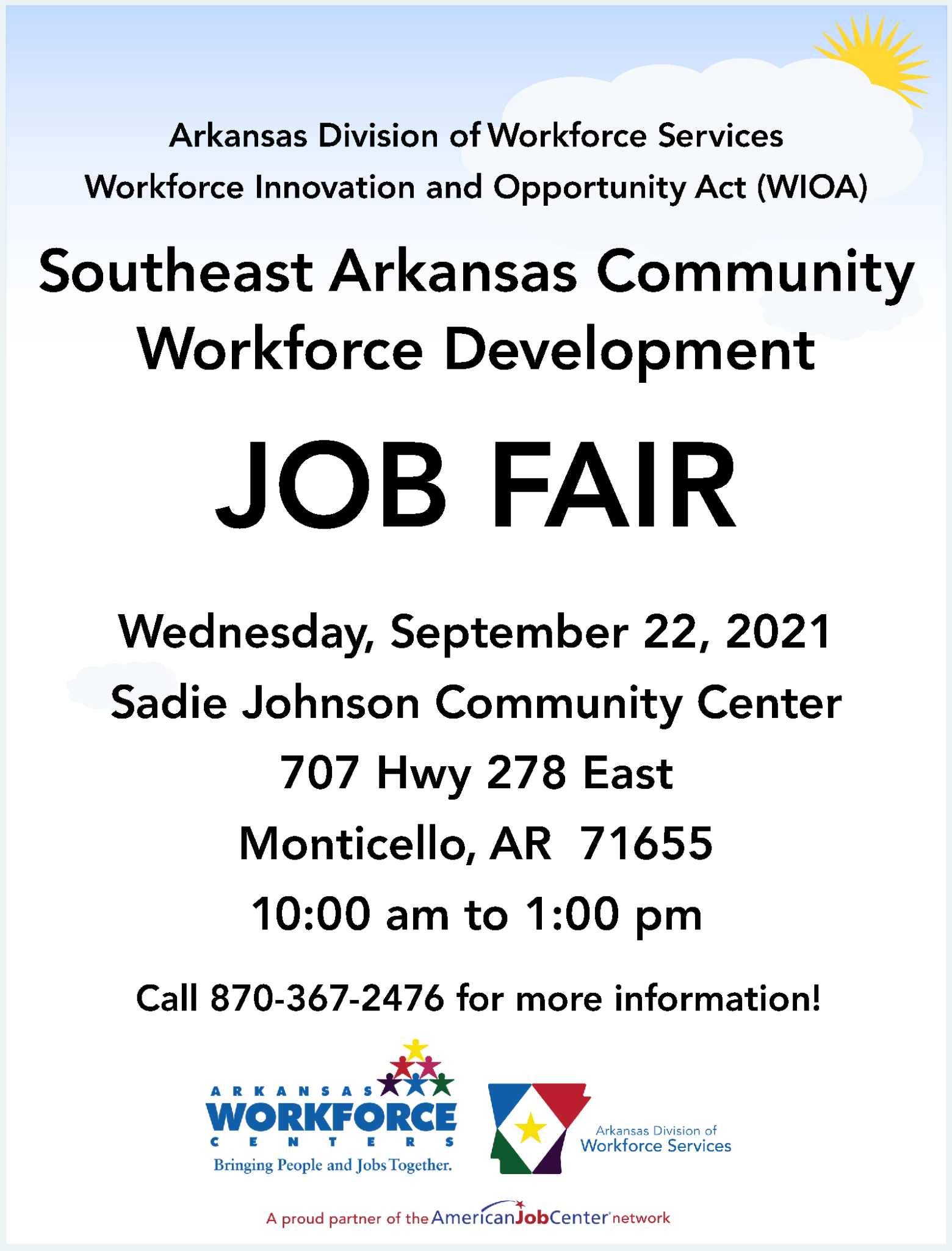 Job Fair coming to Monticello in late September