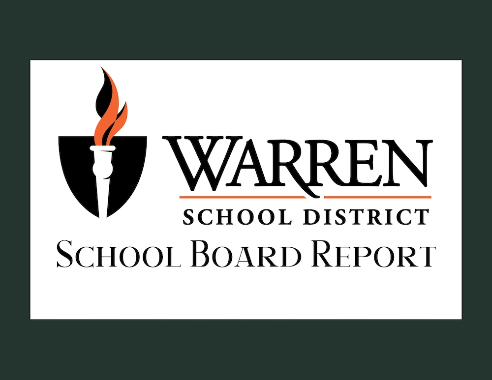 Annual report to the public presented from the Warren School District