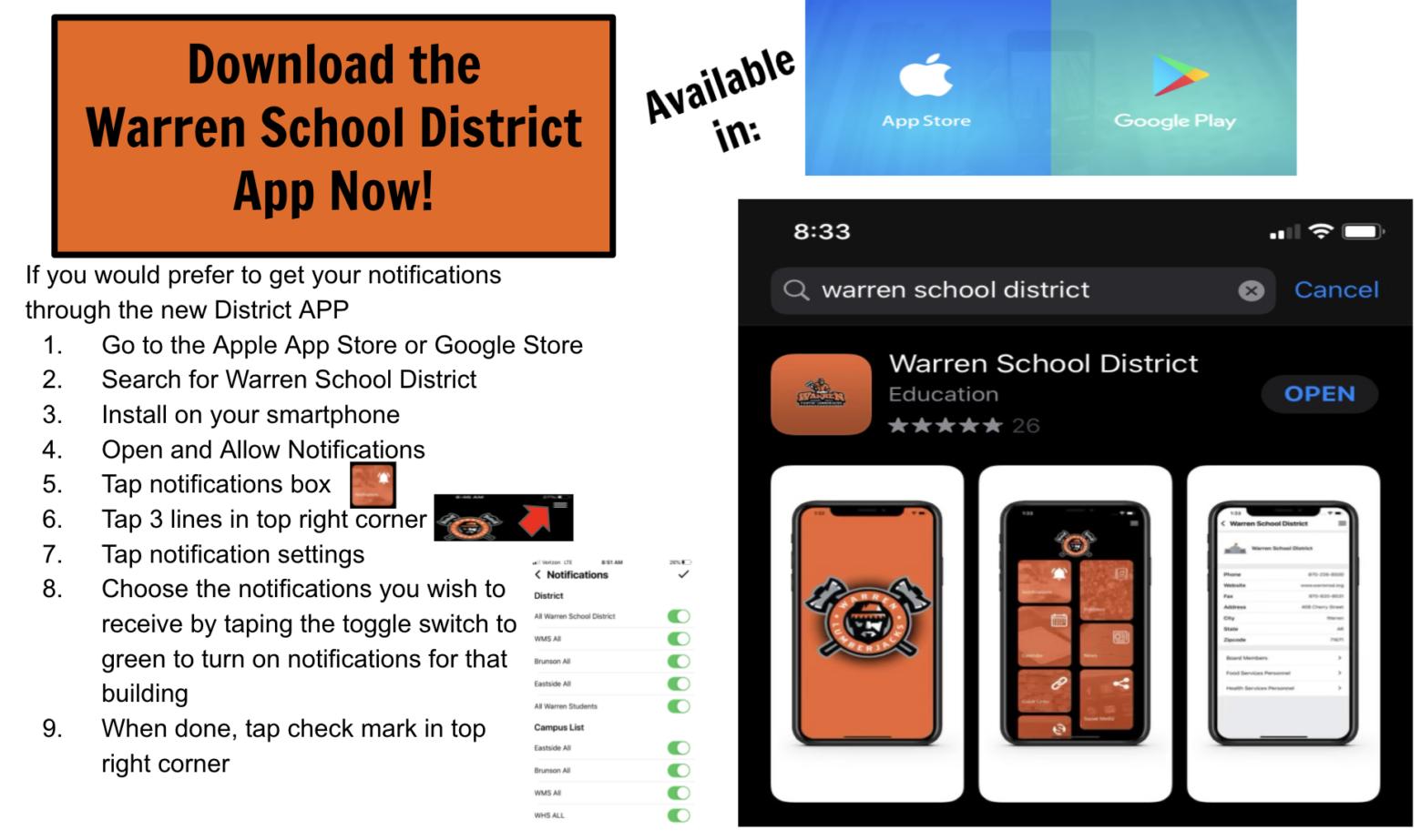 How to stay informed for Warren School District Parents