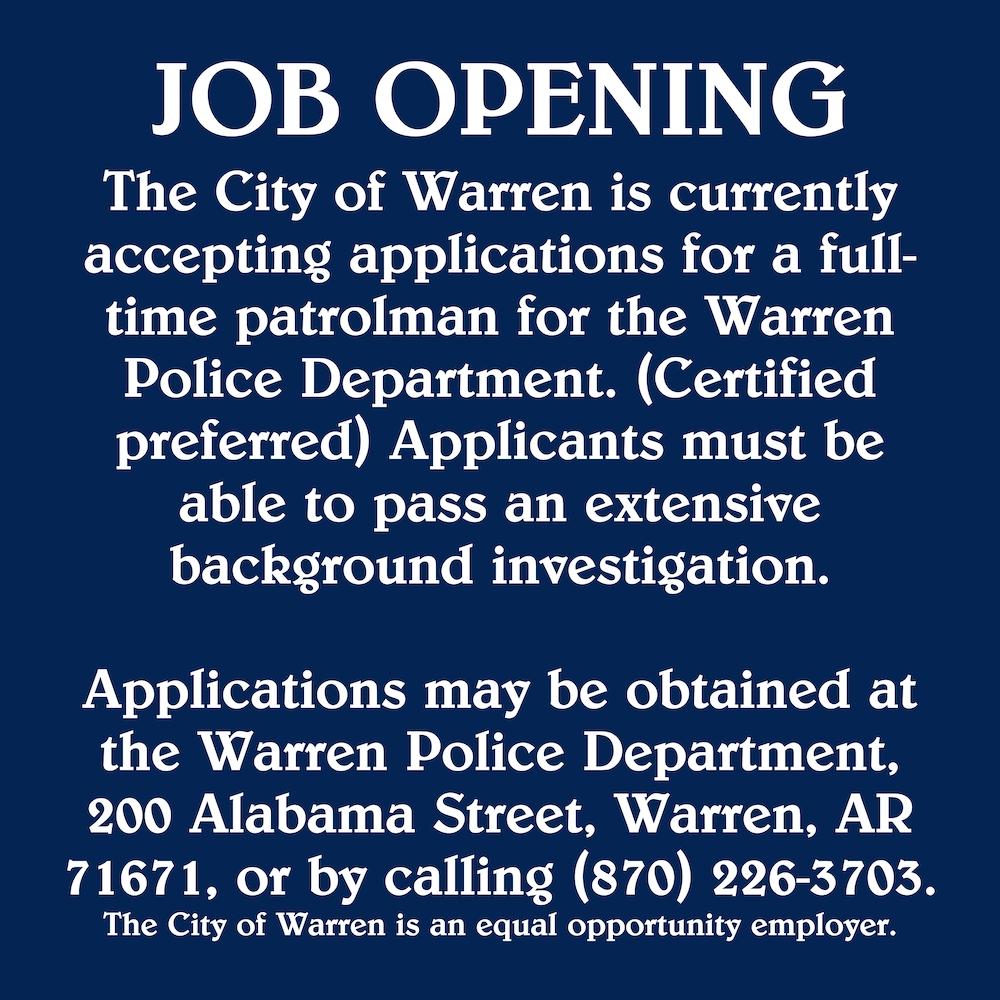 Job Opening-Patrolman