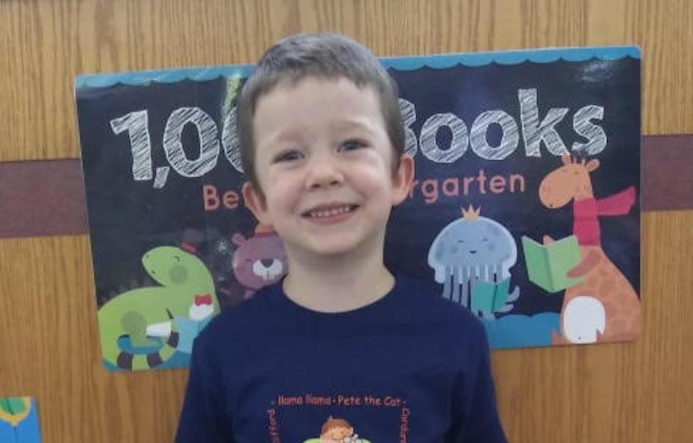 Harley Garrison reaches 1000 books before kindergarten