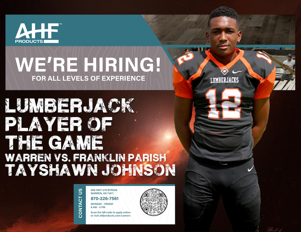 Tayshawn Johnson shines on both sides of the ball as he takes home AHF Products Lumberjack Player of the Game honors for his week 3 performance