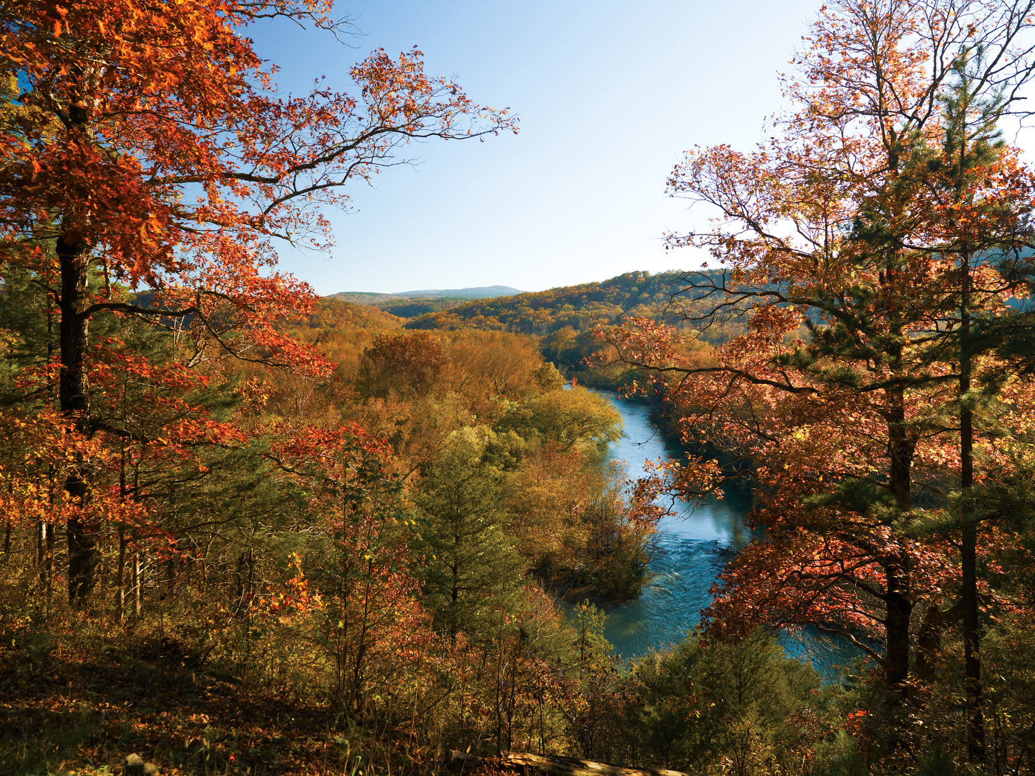 Arkansas's scenic byways lead to fall color