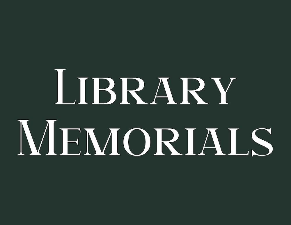 Library announces August Memorials
