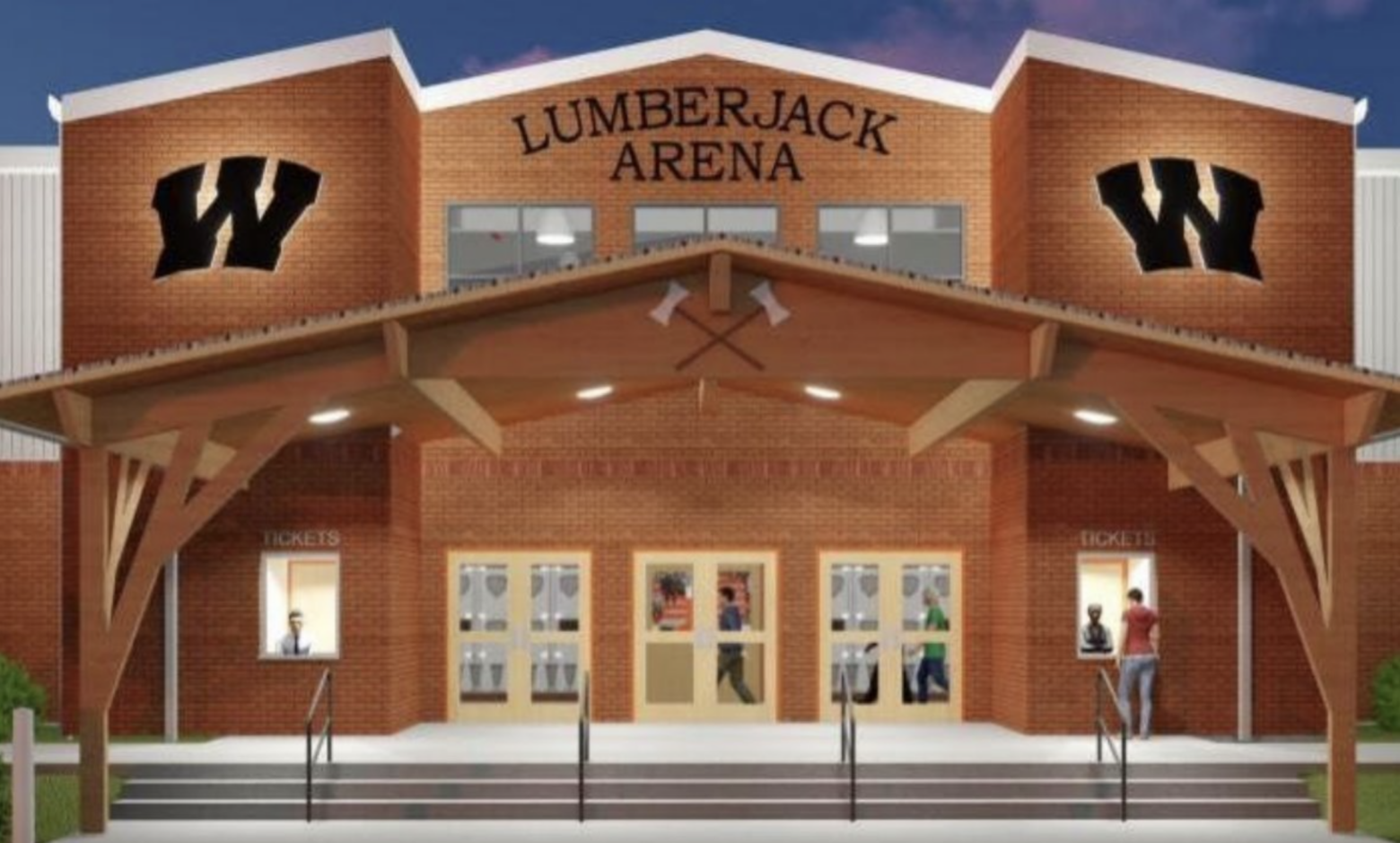 Construction approved to begin on new Lumberjack arena and elementary school