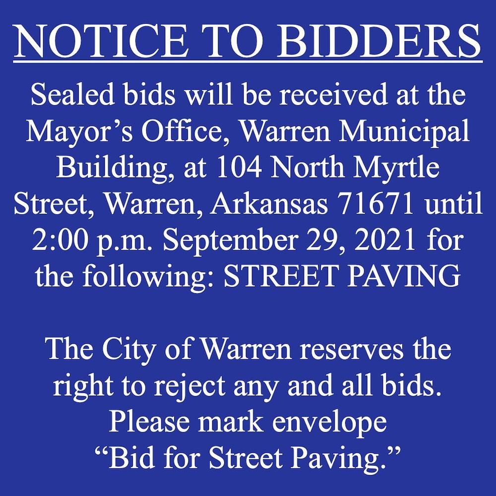 Notice To Bidders