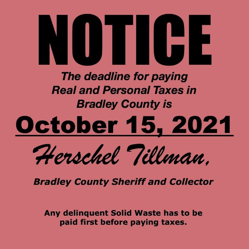 Notice-October 15 Tax Deadline
