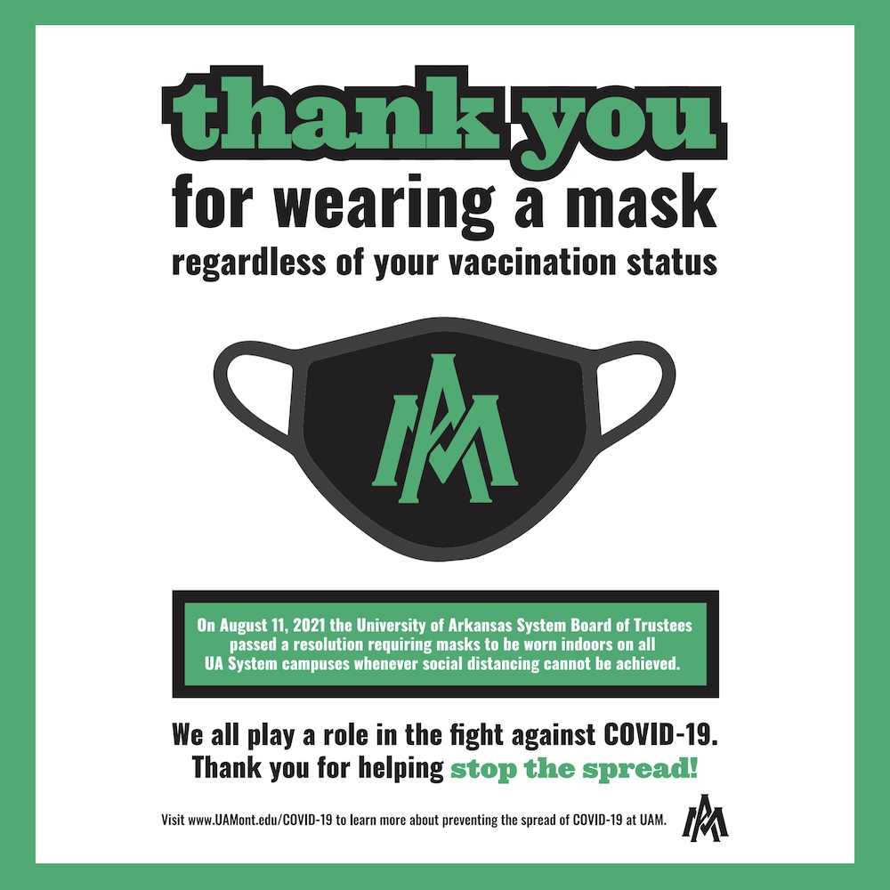 UAM: Thank you for wearing a mask regardless of your vaccination status