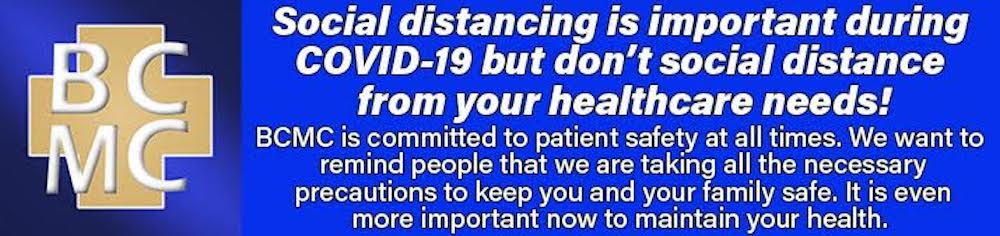 Don't social distance from your healthcare needs!