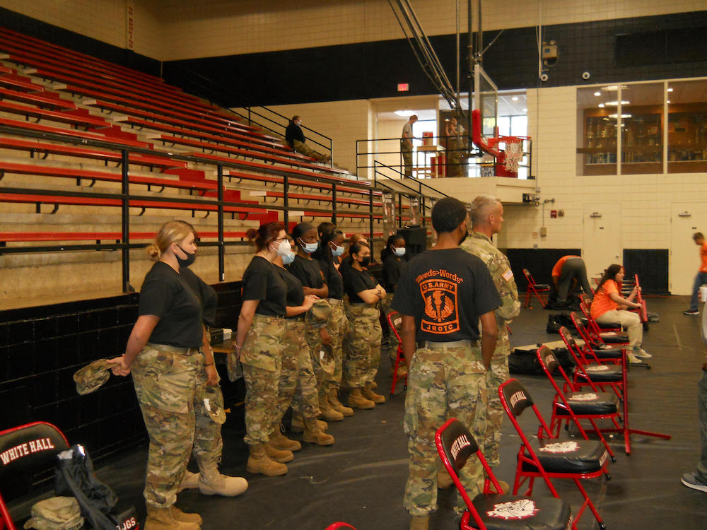 Warren JROTC Cadets take part in air rifle contest