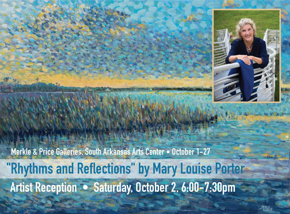 SAAC to host contemporary landscape artist Mary Louise Porter in Price and Merkle Galleries