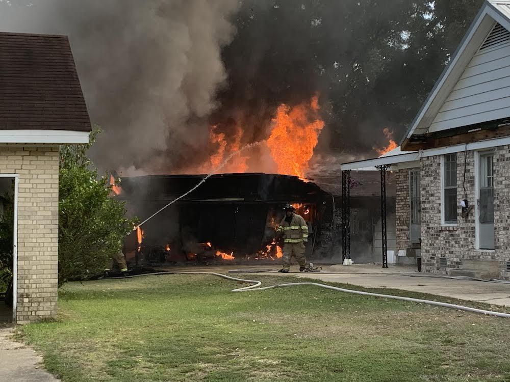 Warren Fire Department fights fire on Sturgis Street