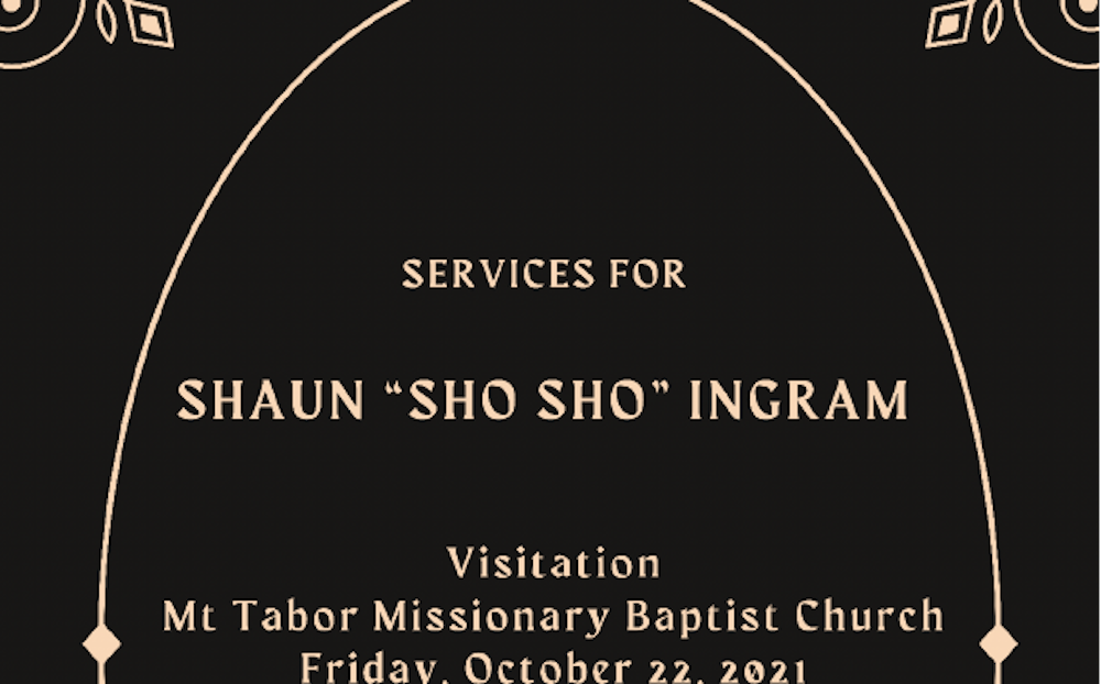 Visitation and funeral services for Shaun Ingram set for Friday and Saturday