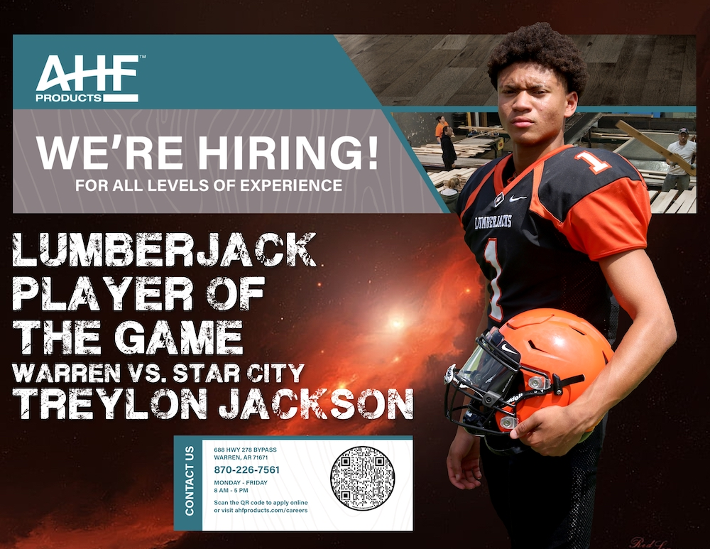 Treylon Jackson earns AHF Products Lumberjack Player of the Game honors in Warren's win over Star City