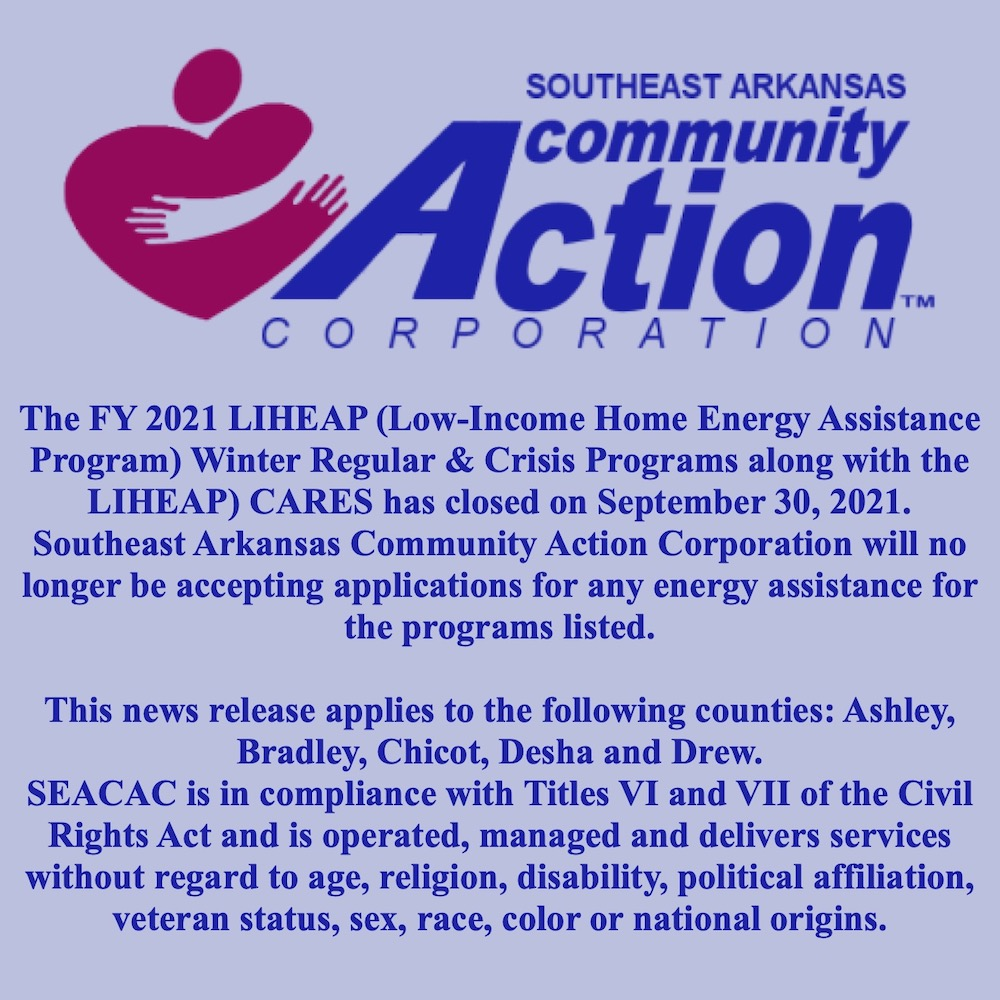 A message from Southeast Arkansas Community Action Corporation