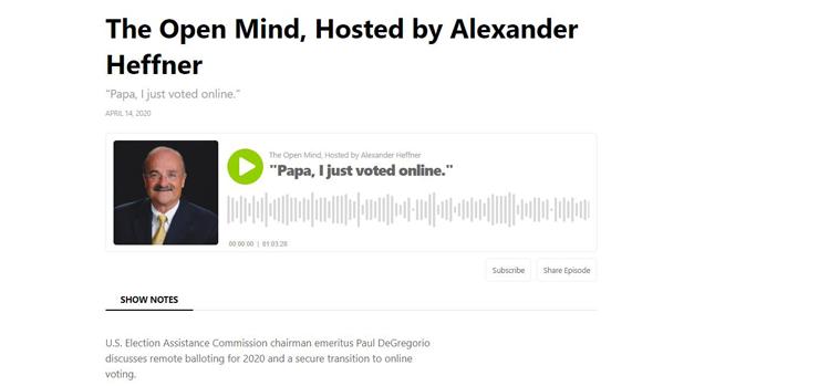 Voto en línea - Paul DeGregorio