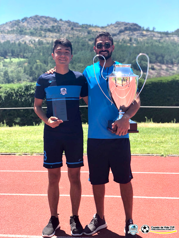 U14 & Coach Kevin Piraquive champions the Castelo de Vide Cup International Tournament Summer 2018 in Portugal