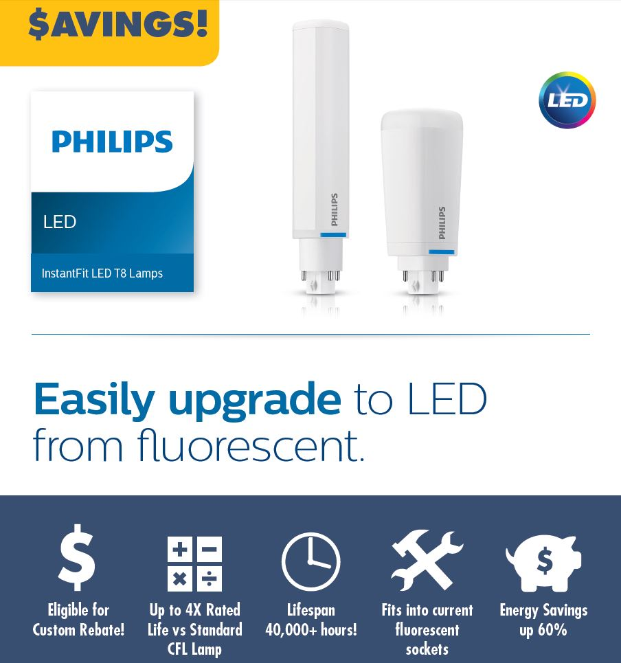 Replace your CFL Push-In's with Long Lasting LED
