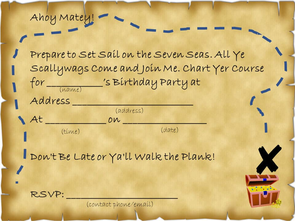 Pirate Magic Party Invitation