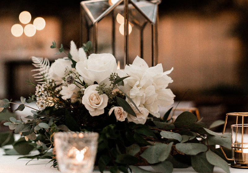 candles and lanterns wedding decorations