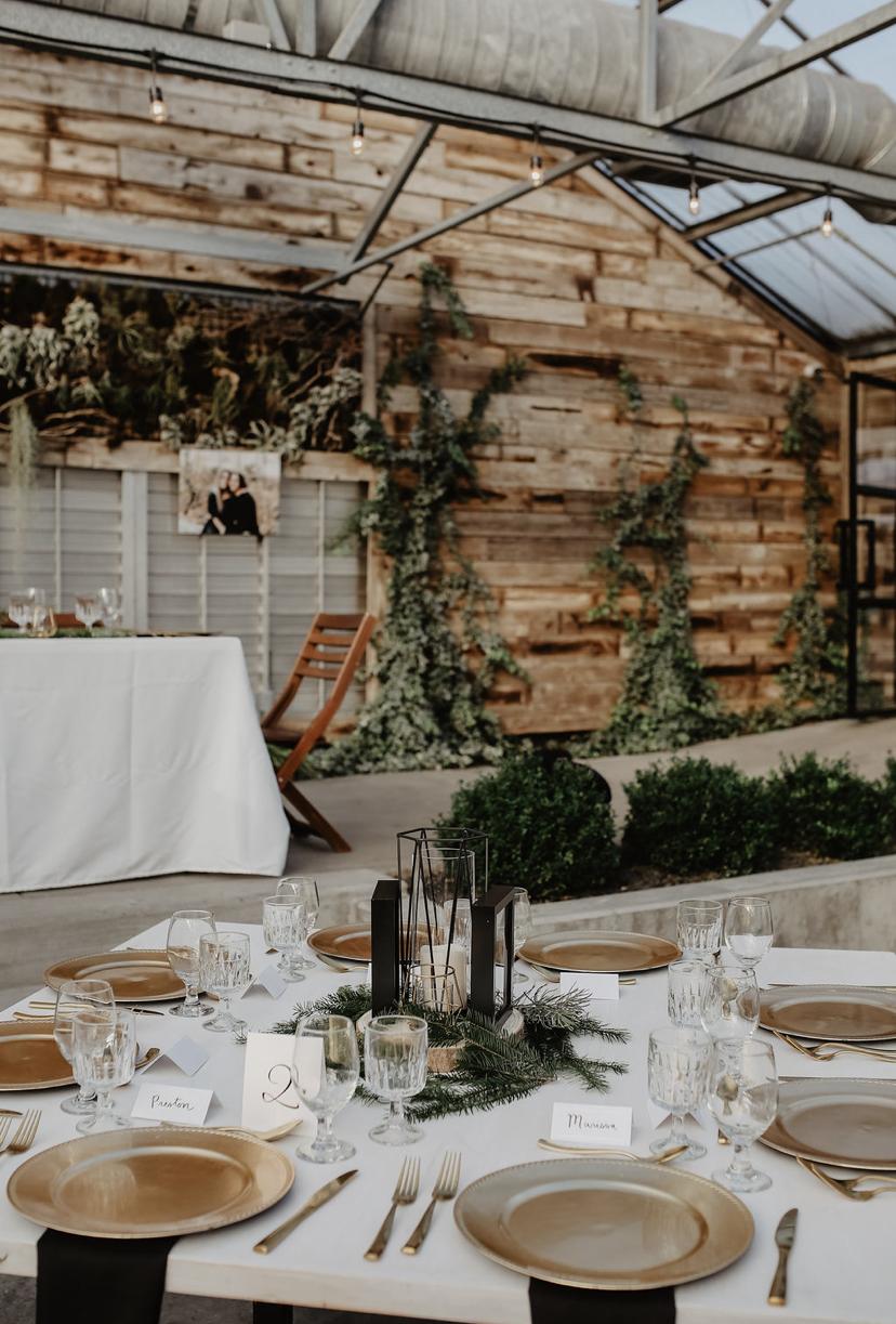 table arrangement at Glasshouse Venues