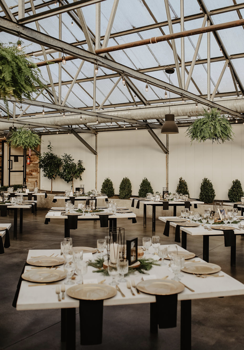 multiple dining tables at Glasshouse Venues