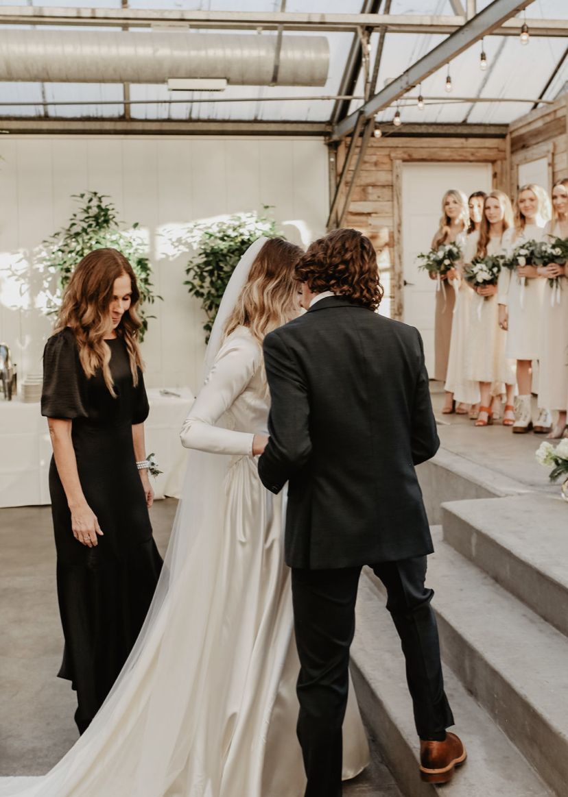 indoor ceremony at Glasshouse Venues