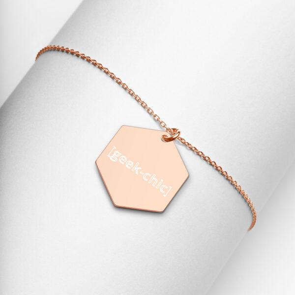 geek chic hexagon necklace