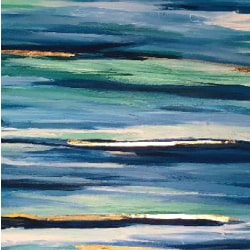 Blue Stripes Painting