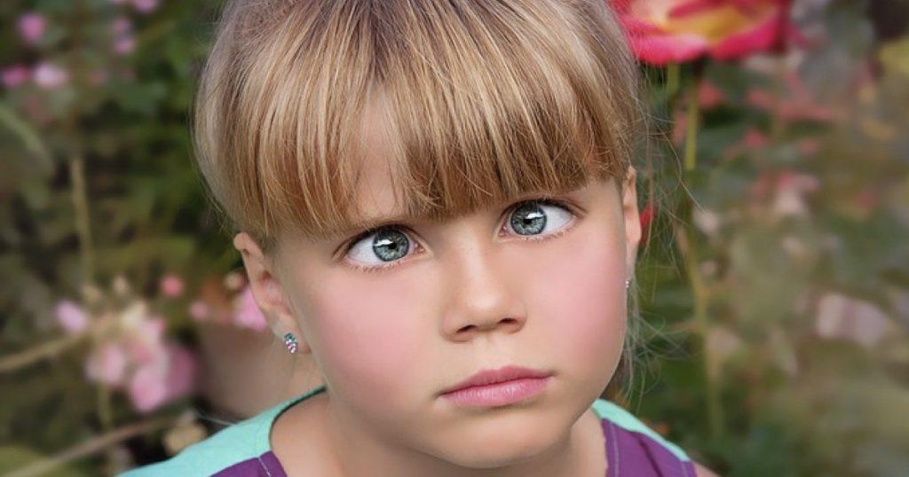 Girl Looking Cross-Eyed