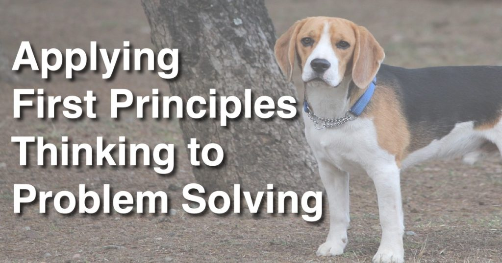 Blog: Applying First Principles Thinking to Problem Solving