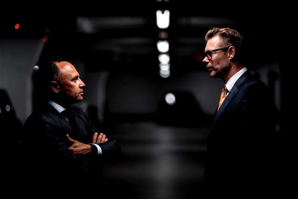 Two Men in Conflict