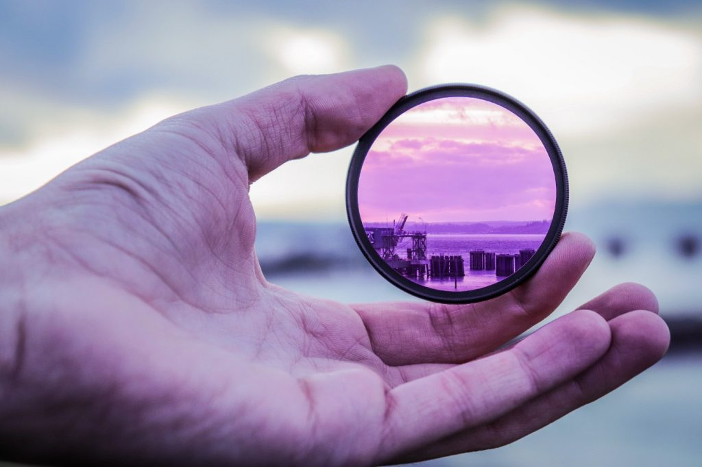 A focused, myopic view through a lens keeps you from seeing the bigger picture.