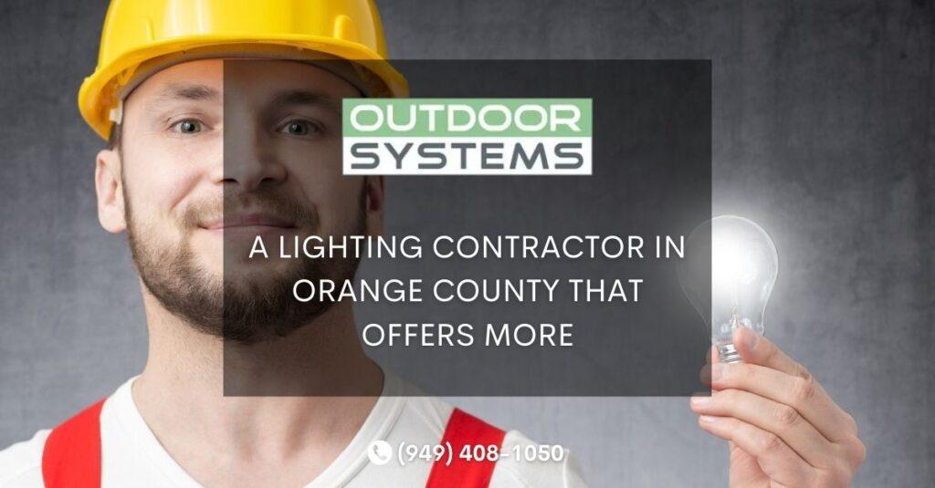 Lighting Contractor Orange County