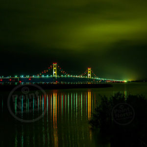 Point North Photography-Jeff Wier-Mackinac Bridge night