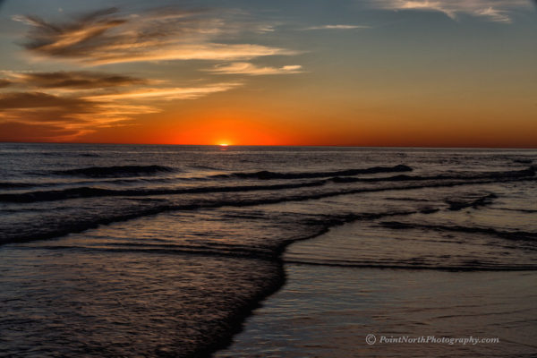 Point North Photography-SETTING SUN OVER LAKE MICHIGAN