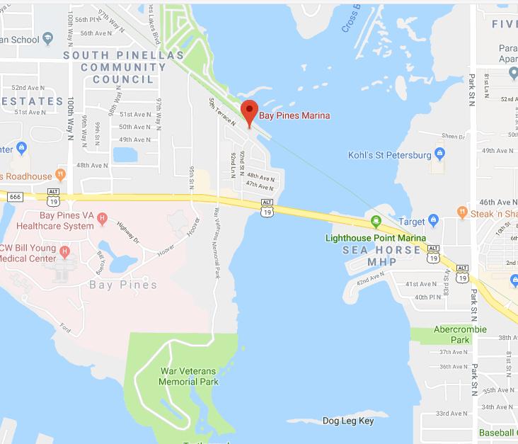 Bay Pines Marina Map